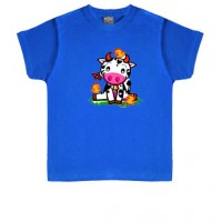 VACA CON PAJAROS - Camiseta Unisex