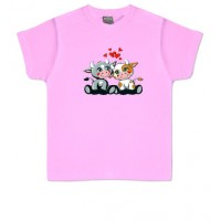VACA CON CORAZONES - Camiseta Unisex