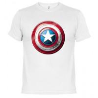 ESCUDO CAPITAN AMERICA - Camiseta Unisex