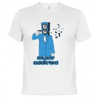 Music addicted - Camiseta unisex