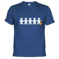 Muñecos de pepel quemándose - Camiseta unisex