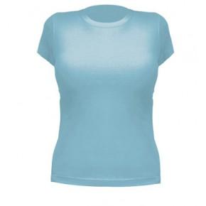 Camiseta de algodón mujer azul turquesa para personalizar