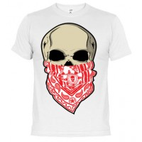 Calavera con pañuelo - Camiseta unisex