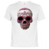 Calavera pintada  Mexicana   - Camiseta unisex