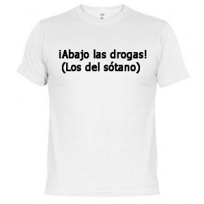 Abajo las drogas - Camiseta unisex