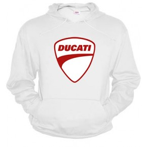 Ducati logo rojo - Dessuadora unisex