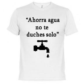 Ahorra agua-   Camiseta unisex