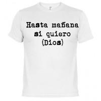 Hasta mañana - Samarreta unisex