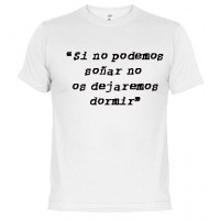 No soñar - Samarreta unisex