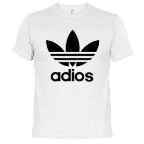 Logo Adios Originales Camiseta Y Algodón Adidas Gran Calidad Divertidas w58SqRxSZ0