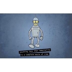 """Lienzos Textiles con marco """"Full Wrap"""" - Bender Futurama"""