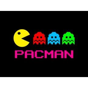 "Lienzos Textiles con marco ""Full Wrap"" - Pacman Come cocos"