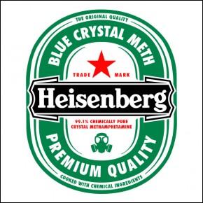 """Lienzos Textiles con marco """"Full Wrap"""" -  Heisenberg Breaking Bad etiqueta botella"""
