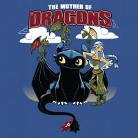 """Lienzos Textiles con marco """"Full Wrap"""" -  Madre de Dragones Juego de Tronos II"""
