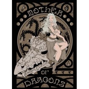 """Lienzos Textiles con marco """"Full Wrap"""" -  Madre de Dragones Juego de Tronos III"""
