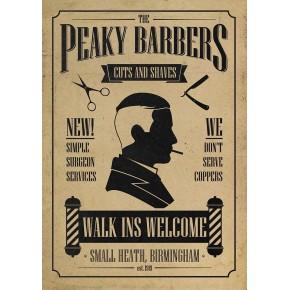 "Lienzos Textiles con marco ""Full Wrap"" -  Peaky Blinders Barbers Cartel"