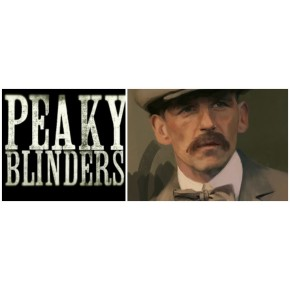 "Lienzos Textiles con marco ""Full Wrap"" -  Peaky Blinders  Arthur Shelby"